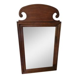 Vintage Wood Framed Mirror For Sale