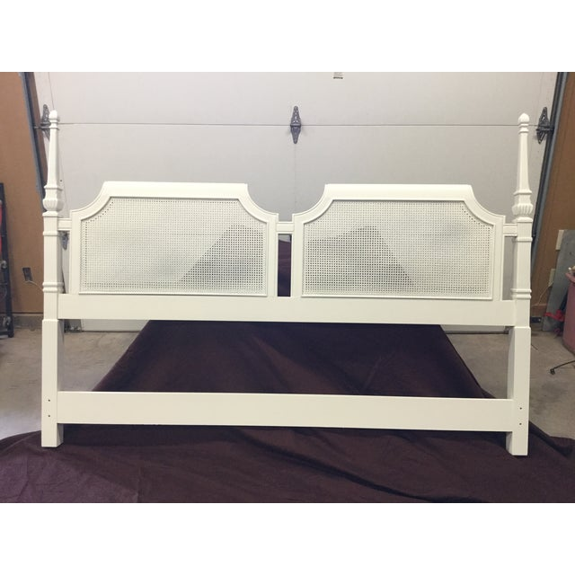 Lacquer Lacquered Cream Drexel King Headboard For Sale - Image 7 of 7