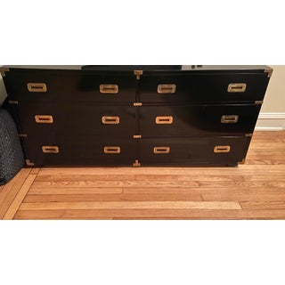 Black Lacquer Campaign Dresser Chest of Drawers Preview