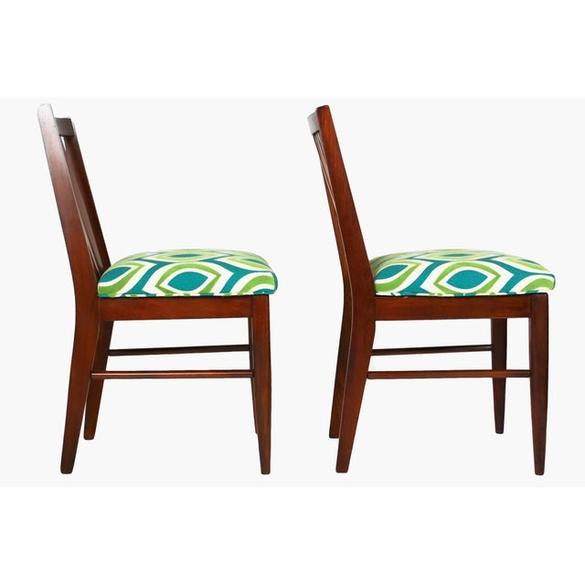 Mid-Century Teak Side Chairs- A Pair - Image 4 of 5