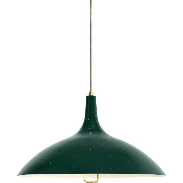 Paavo Tynell '1965' Pendant Lamp in Green For Sale - Image 10 of 10
