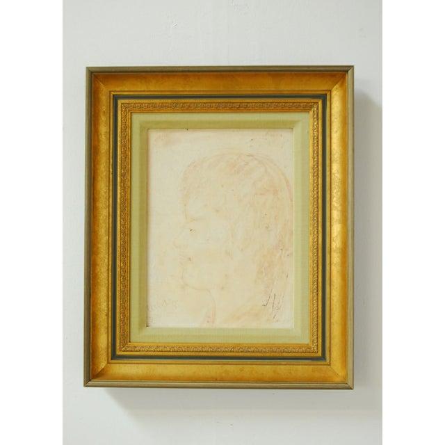 Pascal Cucaro Profile Portrait Oil on Board - Image 6 of 9