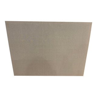 Pottery Barn Linen Pinboard in Stone For Sale