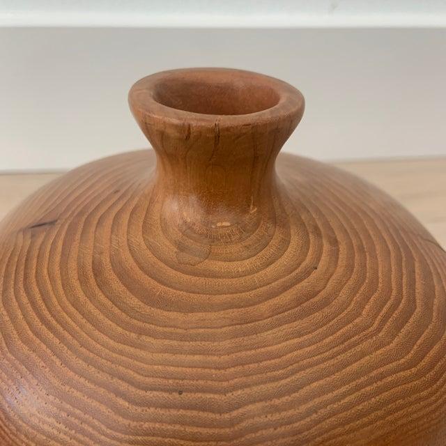 Mid 20th Century Mid Century Style Wood Turned Vase For Sale - Image 5 of 7