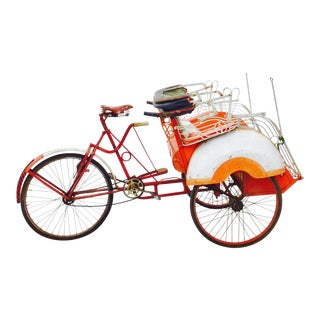 Vintage Indian Rickshaw Cart For Sale