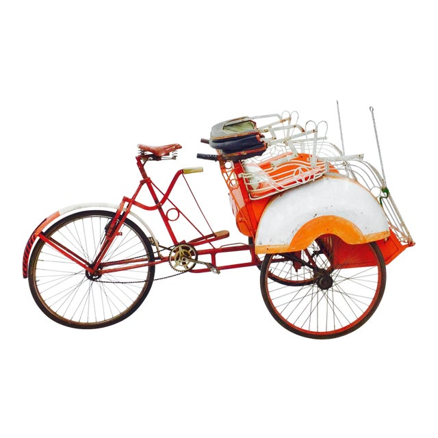 Vintage Indian Rickshaw Cart - Image 1 of 11