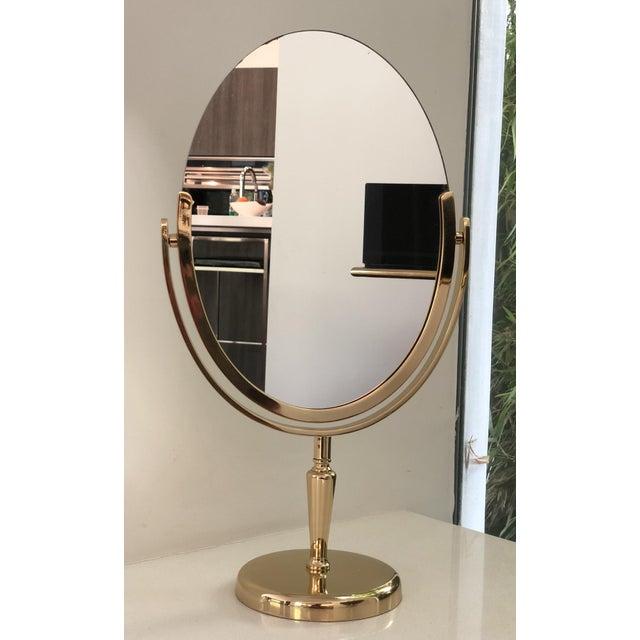 Charles Hollis Jones Brass Vanity Mirror by Charles Hollis Jones For Sale - Image 4 of 8