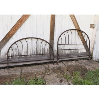 1900s Cottage Metal Headboard and Footboard - a Pair Preview