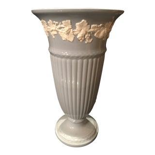 1950s Wedgwood Blue Ceramic Vase For Sale