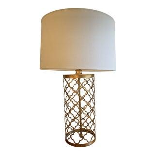 Regina Andrew Design Quatrefoil Drum Lamp in Gold For Sale
