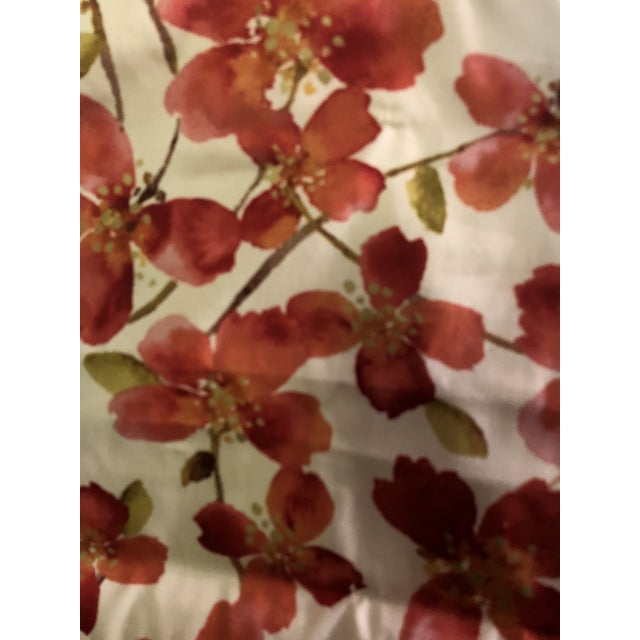 Cotton Floral Orange Pattern Roman Shade For Sale - Image 7 of 12