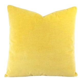 Pindler Bellagio Lemon Velvet Pillow Cover For Sale