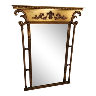 Golden Gilt Trumeau Mirror For Sale