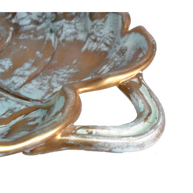 Stangl Gold Leaf Ceramic Catchall Bowl For Sale In Miami - Image 6 of 9
