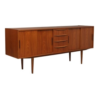 1950s Scandinavian Modern Teak Sideboard For Sale