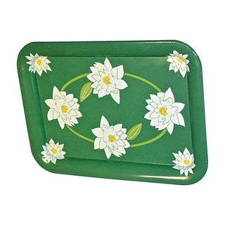 Magnolia 1960s Green and White Tray