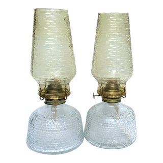 Vintage Anchor Hocking Mid Century Patio Lamps - a Pair For Sale