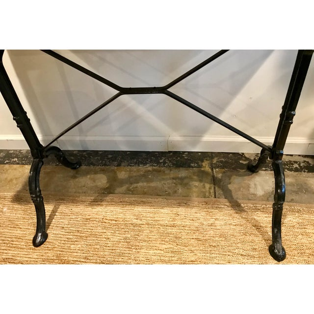 1920s French Marble Top Iron Base Console For Sale - Image 9 of 10