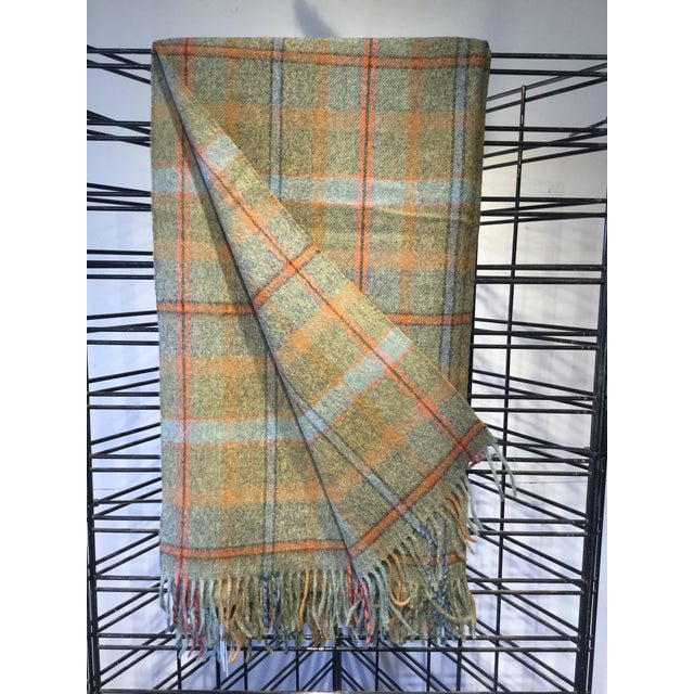 Wool Throw Green Check Made in England For Sale In Dallas - Image 6 of 6