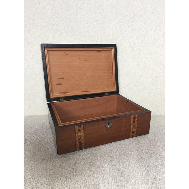 Walnut Tunbridge Ware Box For Sale - Image 4 of 6