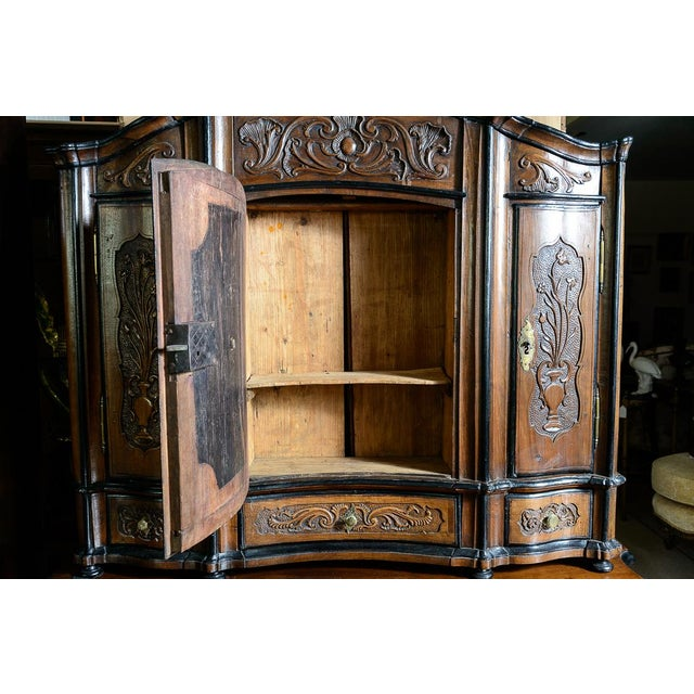 Portuguese Cabinet With Four Seasons Carving For Sale In West Palm - Image 6 of 10