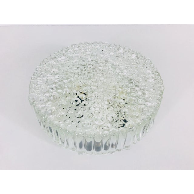 Mid-Century Modern 1960s Mid-Century Modern Bubble Glass Flush Mount by Glashütte Limburg, Germany For Sale - Image 3 of 10