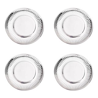 """""""Paper Plate"""" in Stainless Steel Small - Set of 4 For Sale"""