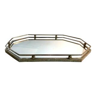 Hollywood Regency Brass Vanity Table Mirror For Sale