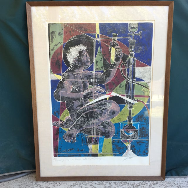 Mid-Century Signed Hans Erni Lithograph - Image 2 of 11