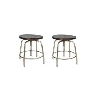 Deon Wooden Bar Stools - a Pair Bar Stool With Wooden Top, Modern Look Bar Stool for Living Room, Kitchen, Dining Room For Sale