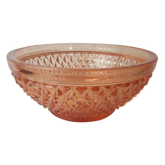 Cambridge Stratford Peach Blo Bowl For Sale