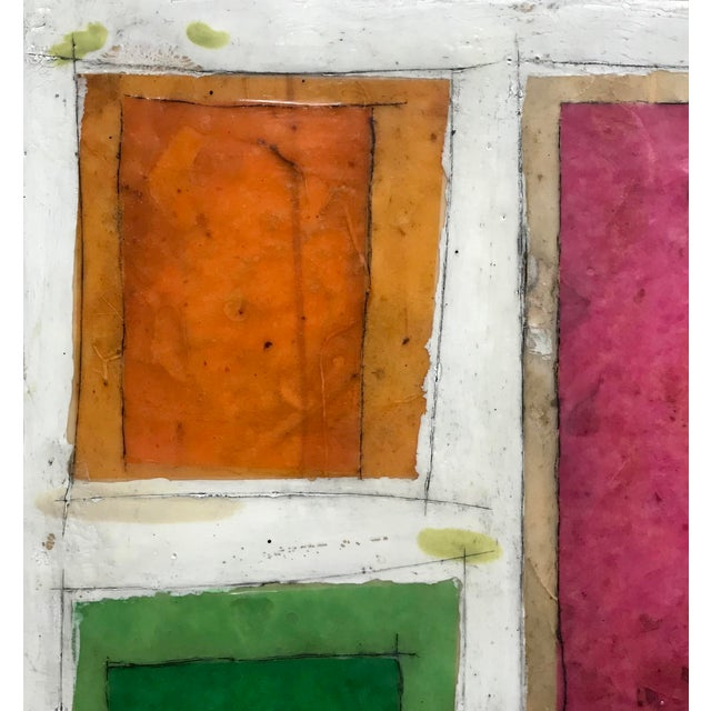 "This piece is from an older encaustic collage series I did a few years back titled ""Necessity of Play"". This piece is..."