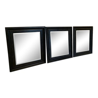 Black Framed Mirrors - Set of 3 For Sale