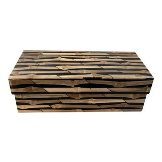 R & Y Augousti Bamboo Lidded Box Signed, Paris For Sale