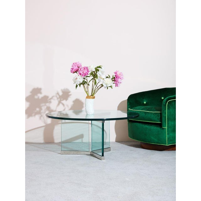 Modern Pace Collection Glass Coffee Table For Sale - Image 3 of 5