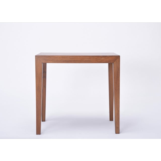 Vintage Rosewood Side Table by Severin Hansen, 1960s For Sale - Image 6 of 9