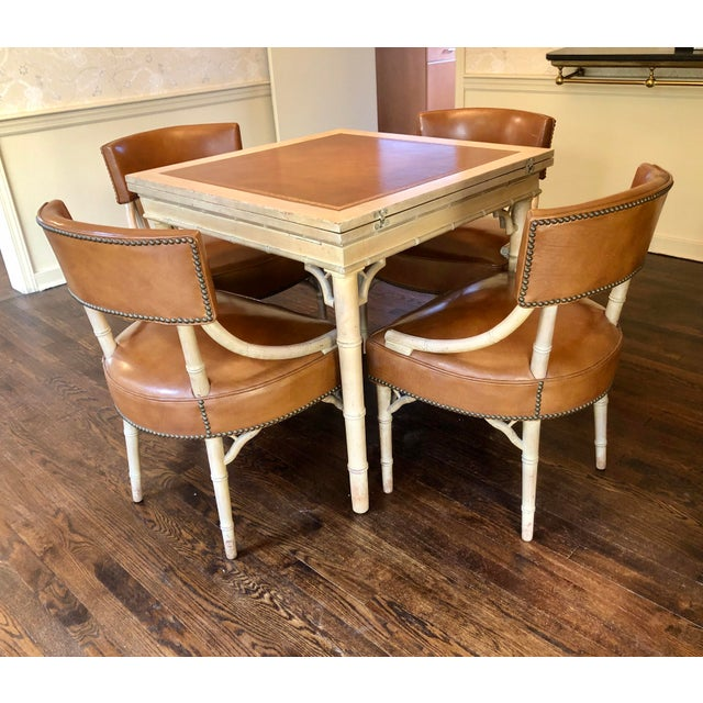 Vintage Game and Card Table With Chairs For Sale - Image 13 of 13