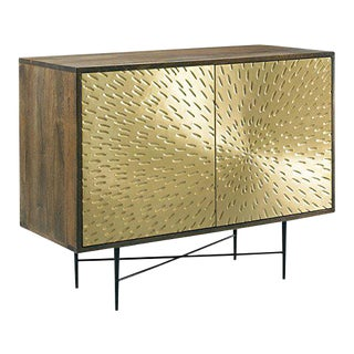 Industrial Barrel Cornell Brass Finish Chest For Sale