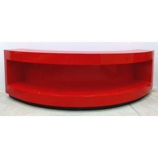 Paul Laszlo Red Art Deco Curved Bookcase Preview