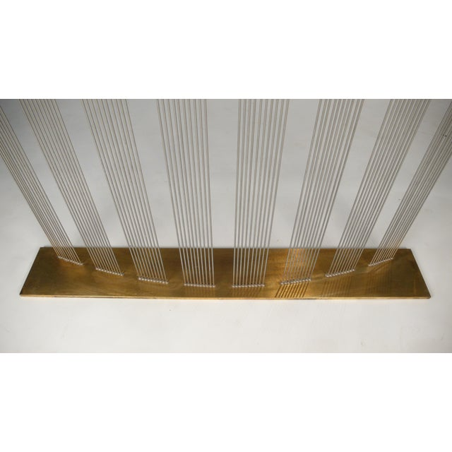 """Brass Val Bertoia """"8 Times Sound"""" Rods Sculpture For Sale - Image 7 of 11"""