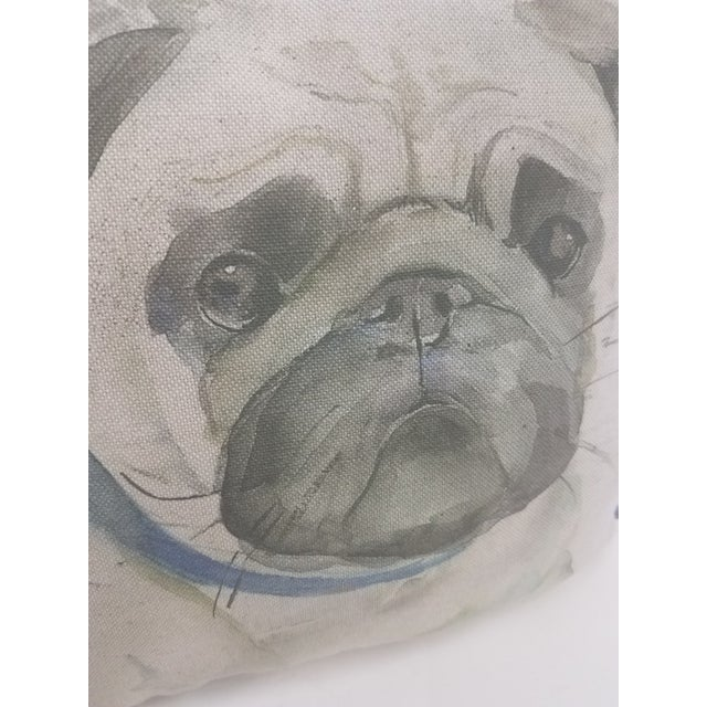 English Pug Pillow - Made in Wales, United Kingdom For Sale - Image 3 of 9