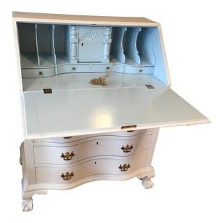 High Gloss White Secretary Desk For Sale