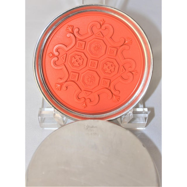 Orange Rare 1960's Gorham Silver Spanish Tracery Drink Coasters - set of 4 For Sale - Image 8 of 12