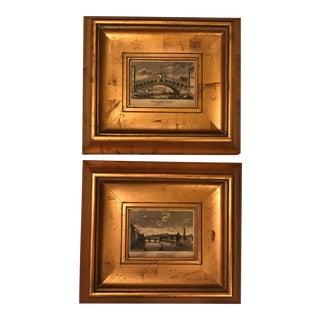 Framed Italian Prints- a Pair For Sale