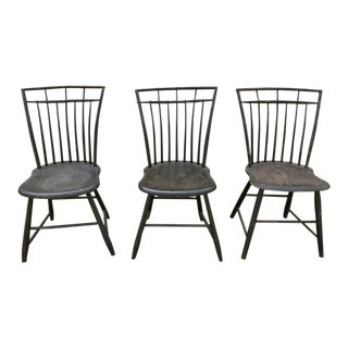Antique Birdcage Windsor Chairs- Set of 3 For Sale