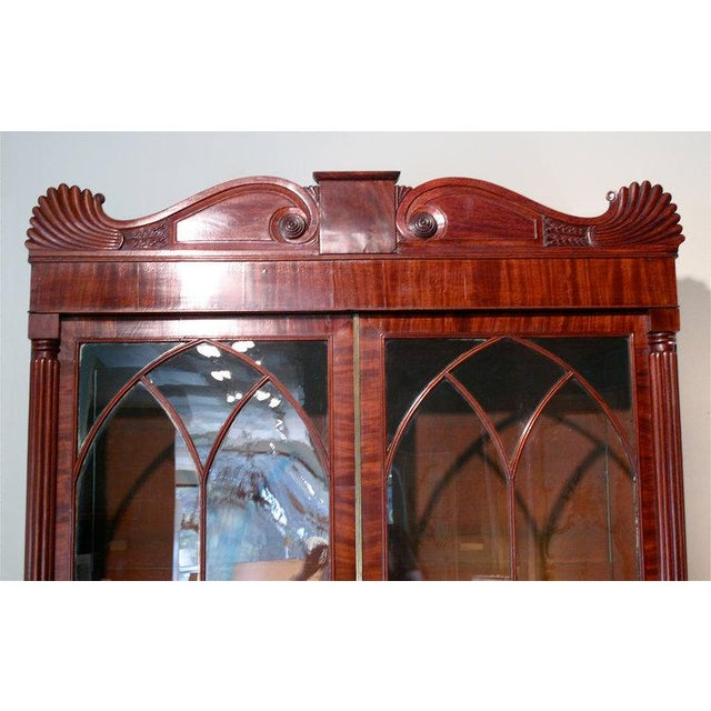 Early 19th Century English William IV Mahogany Secretary Bookcase For Sale - Image 5 of 11