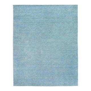 Exquisite Rugs Rheine Hand Loom Wool Light Blue - 6'x9' For Sale