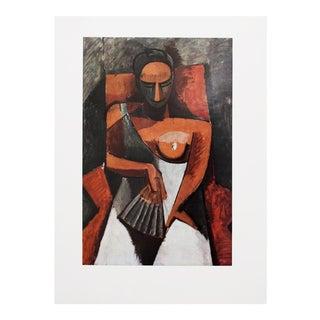 """1970s Parisian Photogravure """"La Femme à L'Éventail"""" by Picasso"""