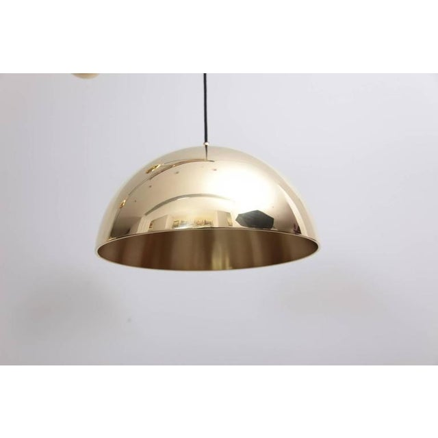 Mid-Century Modern Florian Schulz Double Posa Brass Pendant Lamp With Side Counter Weights For Sale - Image 3 of 5