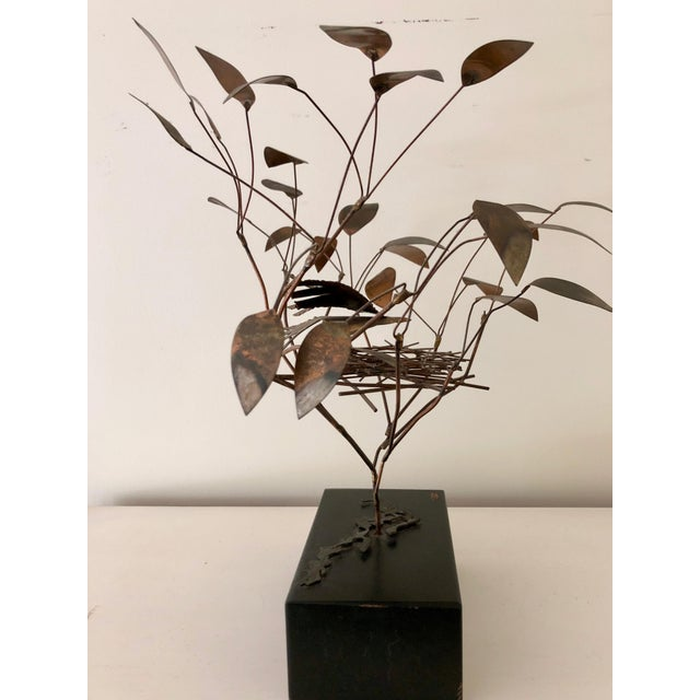 Mid-Century Modern 1968 Curtis Jere Birds in Tree Nest Sculpture For Sale - Image 3 of 7